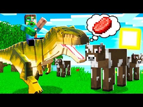 How to TAME a TREX in Minecraft!