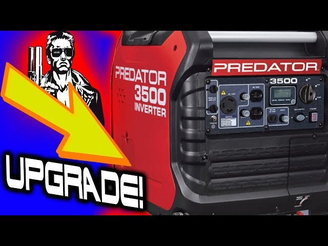 Harbor Freight Predator Inverter Generator 3500 Vented Oil Door Mod!
