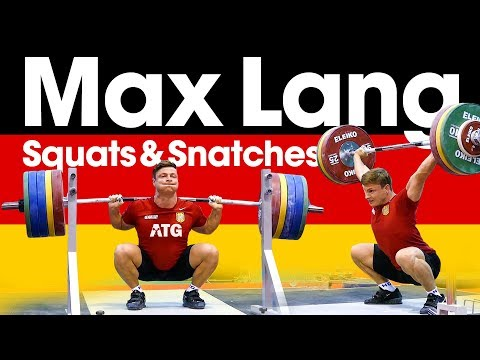 Max Lang 🇩🇪 Snatches & Squats One Day Out from 2017 European Weightlifting Championships