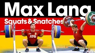 Video Max Lang 🇩🇪 Snatches & Squats One Day Out from 2017 European Weightlifting Championships download MP3, 3GP, MP4, WEBM, AVI, FLV November 2017
