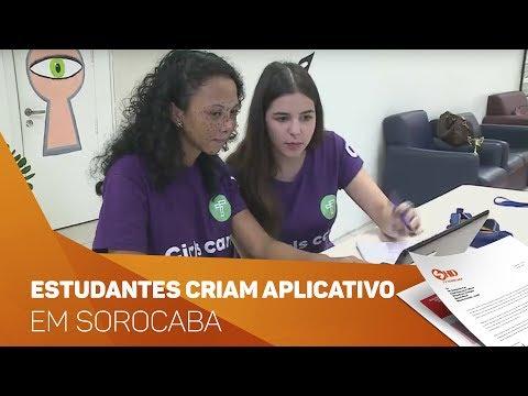 Estudantes criam aplicativo em Sorocaba - TV SOROCABA/SBT