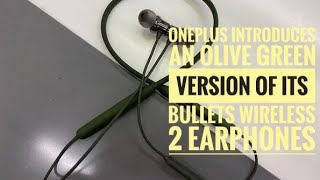 OnePlus introduces an Olive Green version of its Bullets Wireless 2 earphones