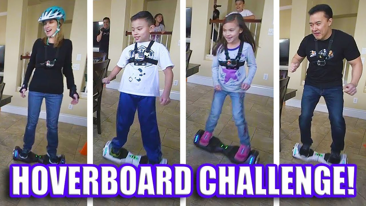 HOVERBOARD CHALLENGE!!! Family Race Competition! FLASHBACK WEEK #3