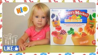 Учим цвета и фрукты овощи  |  Распаковка игрушки | | Color sorting set Farmers Market