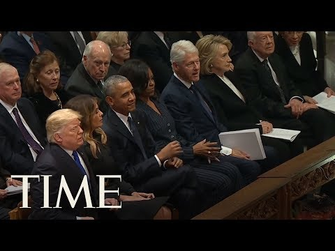 President Trump And Former U.S. Presidents Gather For George H.W. Bushs Funeral | TIME