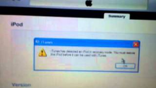How to force restore your ipod iphone or ipad if youe get an error