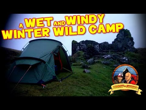 WET & WINDY WINTER WILD CAMP  Dartmoor  (Vango Banshee /DD Hamock Superlight Tarp)