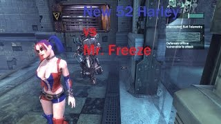 Batman Arkham City New 52 Harley Quinn vs. Mr. Freeze