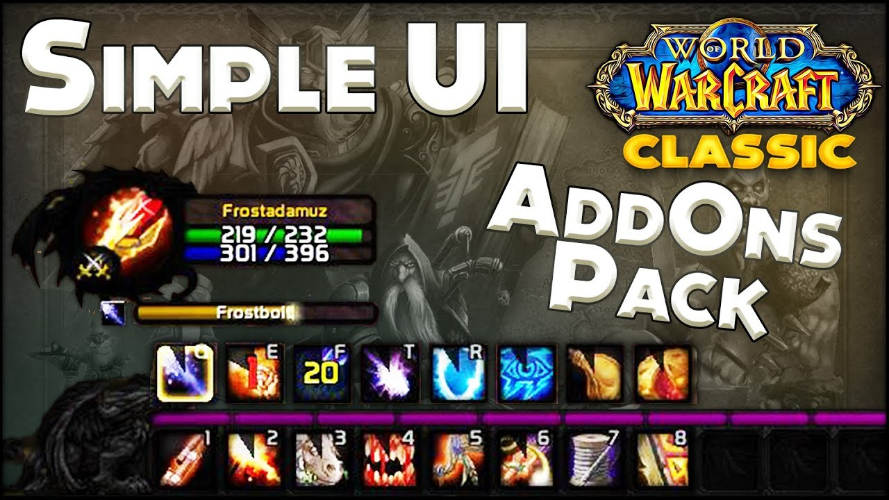 Classic WoW Simple & Clean Ui - Addon Pack Easy to Setup