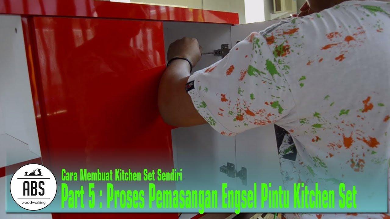Kitchen Set 5 Proses Pemasangan Engsel Pintu Youtube
