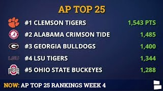 AP Poll: College Football Top 25 Rankings For Week 5