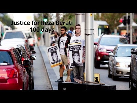 Reza Barati, 100 days without Justice. Video: Zebedee Parkes.