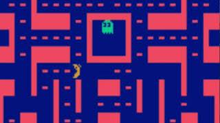 reinforcement learning by openai gym, pacman sample (1750k steps)