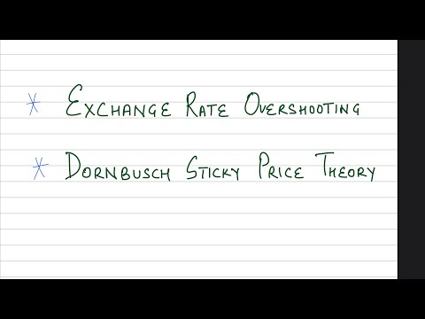 Unit 5 Chapter 9| Exchange Rate Overshooting| Dornbusch Sticky Price Theory| International Economics