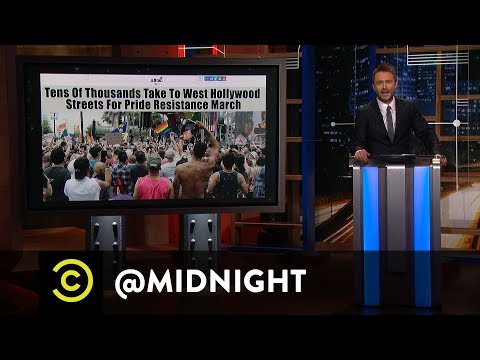The Babadook Goes to Pride - @midnight with Chris Hardwick