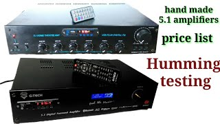 5.1 handmade amplifier Humming test//  price list//optical coaxial