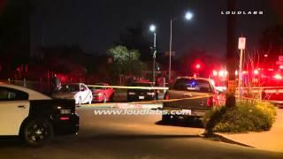 Victim Shot Dead In Street / North Hollywood   Raw Footage