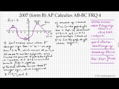 2007 Form B AP Calculus AB BC FRQ 4 YouTube