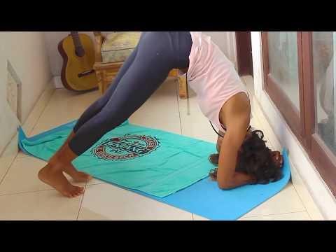 cara melakukan yoga headstand  stepstep  youtube