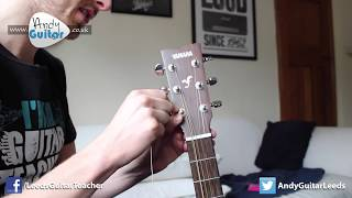 How to change strings on your guitar!