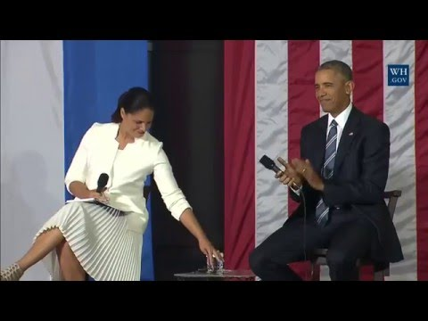 Obama At Entrepreneurs Event in Cuba