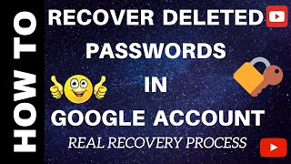 How to recover deleted Passwords, history and Bookmarks from Google Chrome | COMPLETE REAL RECOVERY
