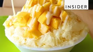 Mango And Coconut Milk Shaved Ice