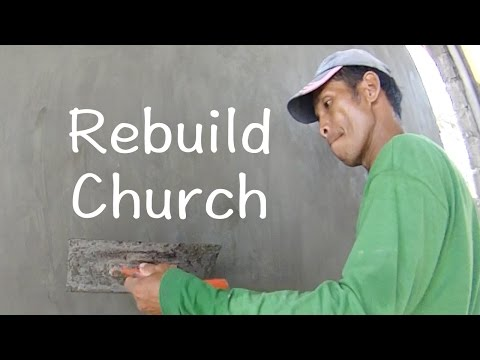 How to build a church destroyed by typhoon, Lawaan, Philippines - By OrDub