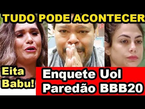 BBB20: Enquete Uol Atualizada mostra quem vai sair no paredão entre Babu, Gizelly e Mari