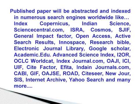 How to publish research paper in a journal