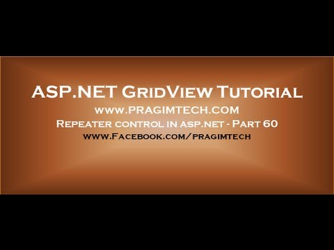 Repeater control in asp.net - Part 60