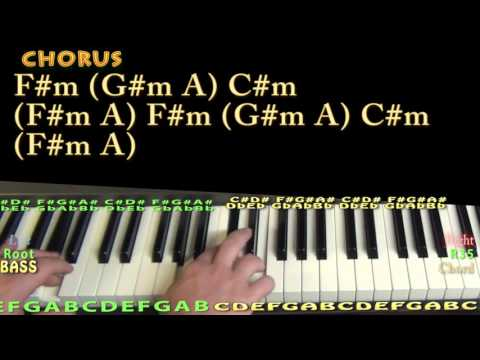 Exchange (Bryson Tiller) Piano Lesson Chord Chart