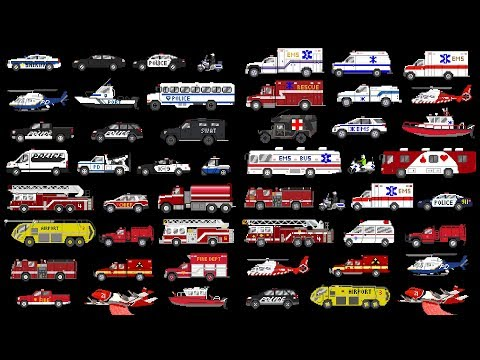 Emergency Vehicles Collection - Police, Fire, & Medical - The Kids' Picture Show (Fun & Educational)