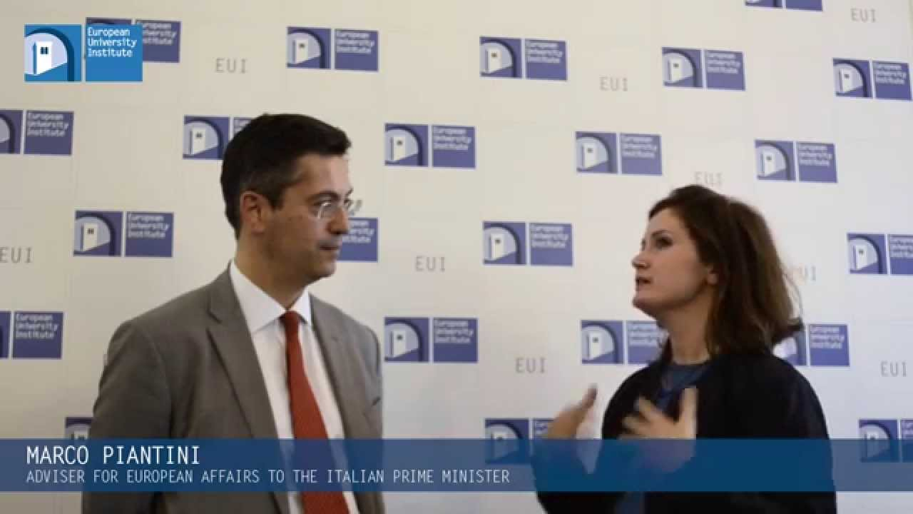 EUI Interviews Marco Piantini Adviser For European Affairs To