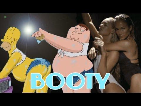 Jennifer Lopez - Booty ft. Iggy Azalea CARTOON PARODY