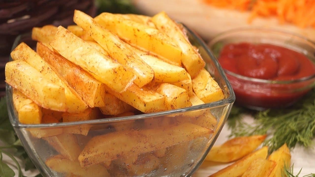 как в духовке приготовить картофель фри