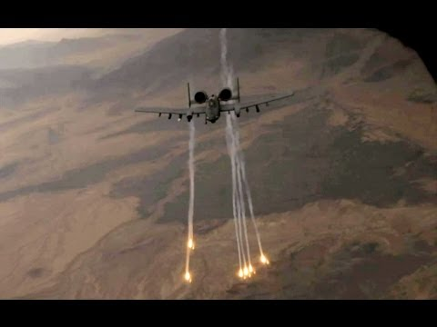 A-10 Warthog Popping Flares
