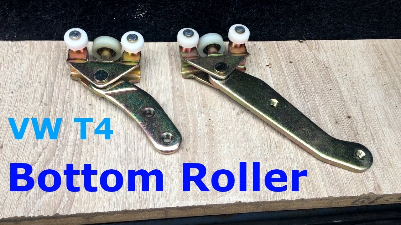 T4 Sliding Door Roller Replacement Bottom Youtube