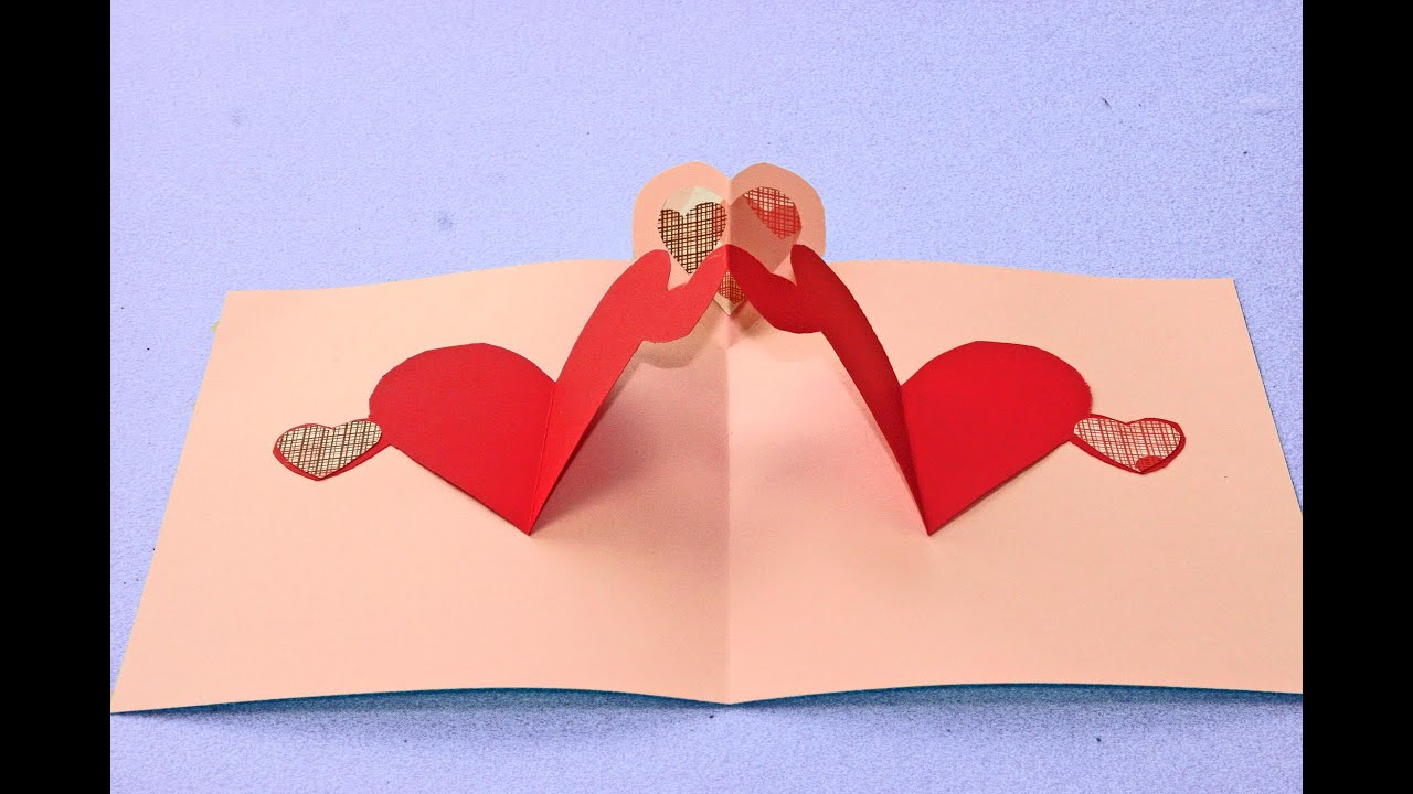 Simple Pop Up Heart Card Tutorial Valentines Day Craft For Kids