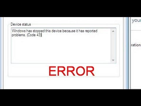 CODE 43 Error fixing method for windows 7 64 bit and 32bit