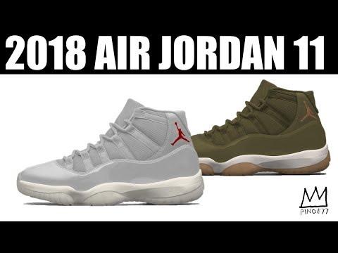 2 MORE JORDAN 11 FOR 2018, NEW RELEASE DATE FOR TRAVIS SCOTT x AIR JORDAN 4 & MORE!!