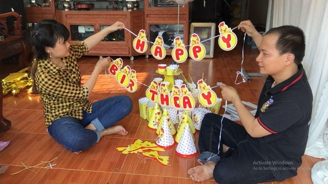Hướng dẫn ráp ráp bộ sinh nhật tại nhà cho bé – Thầy Linh Bong Bóng