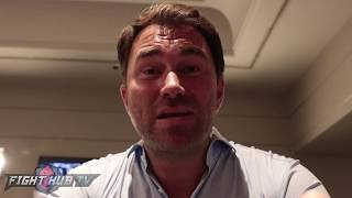 EDDIE HEARN ON CANELO VS GGG SCORES & FIGHT