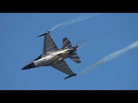 Athens Flying Week 2018 Belgian Air Force F-16 Dark Falcon