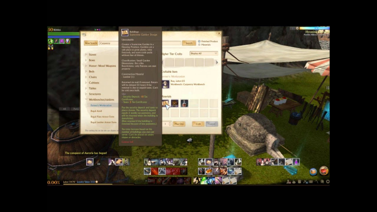 Archeage Farmers Workstation Crafting Guide Youtube