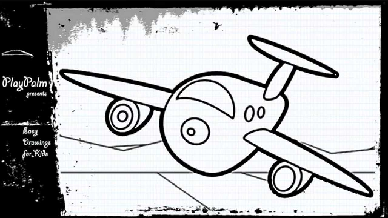 How To Draw Cartoon Airplane Youtube