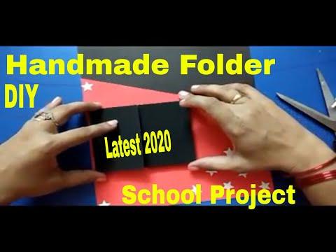 handmade folders design for school/ how to make handmade folder at home (very easiest way part 2)