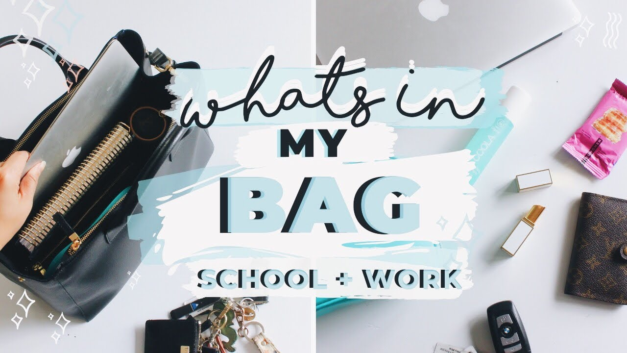 9530e8cf4ac Whats In My School + Work Bag! Study Essentials | Everyday Must Haves For  On The Go