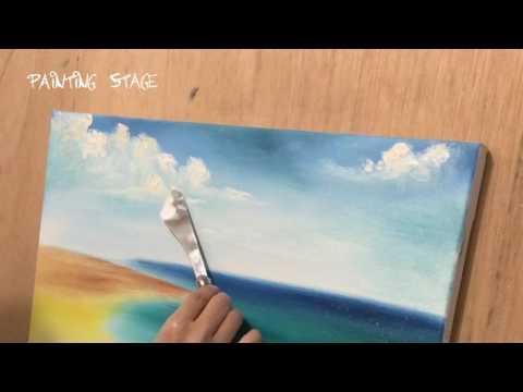 Painting Stage油畫教學-沙灘