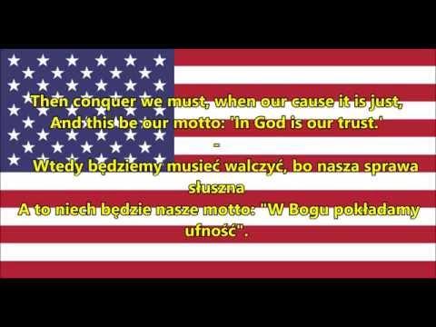 Hymn Stanów Zjednoczonych Ameryki - Anthem USA (EN/PL Tekst)